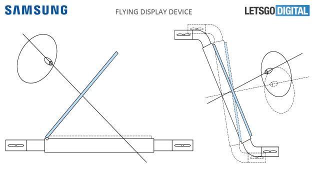 Samsung flying display