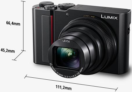 Il design della fotocamera compatta Panasonic Lumix TZ200