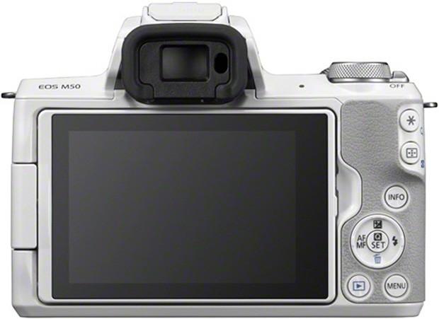 Canon EOS M50: il layout dei comandi