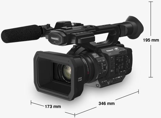 Le dimensioni della videocamera Panasonic HC-X1E