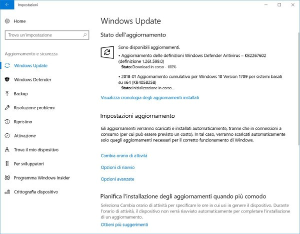 Microsoft aggiorna Windows 10 Fall Creators Update