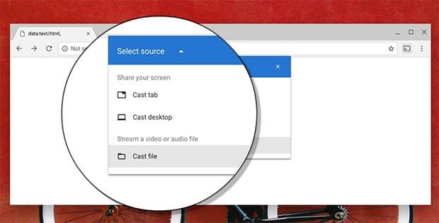 Il browser Chrome di Google permetterà finalmente di effettuare il cast dei file presenti nel computer su Chromecast o altri dispositivi compatibili in modo nativo, senza doversi affidare a estensioni o software esterni