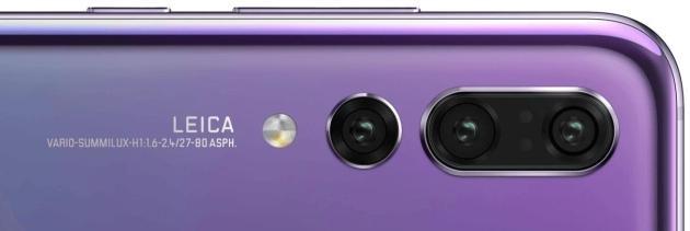 La tripla fotocamera posteriore del nuovo Huawei P20 Pro.