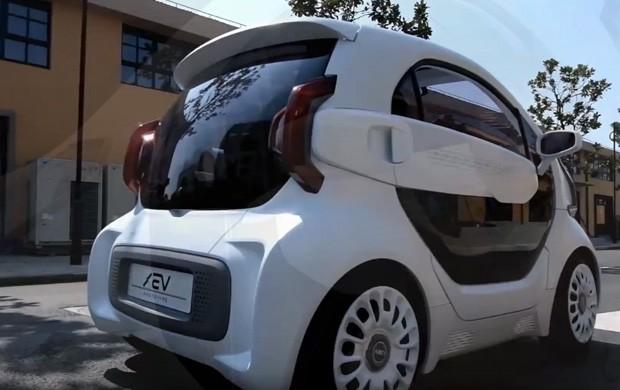 LSEV, l'auto elettrica realizzata con la tecnologia delle stampanti 3D