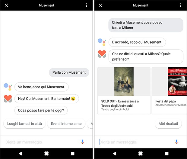 Actions on Google: l'applicazione Musement consente di ottenere informazioni sulle attività da svolgere in città semplicemente interagendo con i comandi vocali