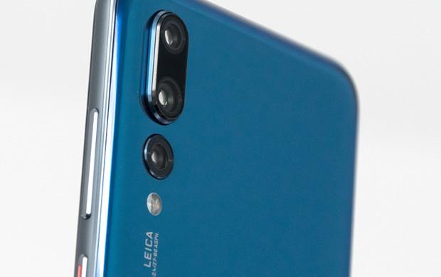 La tripla fotocamera posteriore dello smartphone Huawei P20 Pro