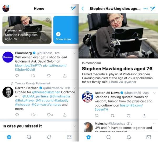 Twitter testa un nuovo sistema di informazione