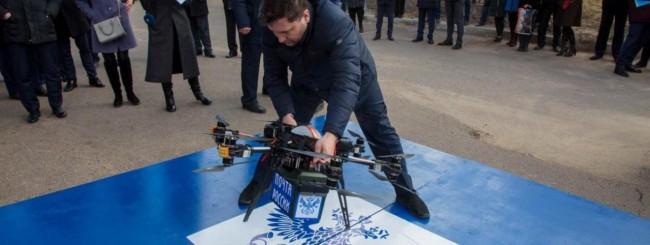 Il drone postino russo precipita dopo il decollo
