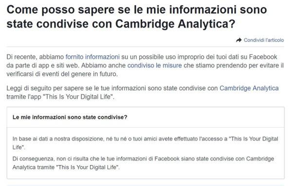 Facebook, scoprire se i dati sono stati trafugati