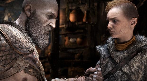 Uno screenshot per God of War: Kratos con il giovane figlio