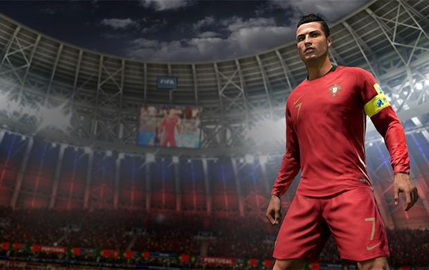 Il testimonial CR7 in campo con la maglia del Portogallo per i Mondiali, grazie all'aggiornamento gratuito 2018 FIFA World Cup Russia