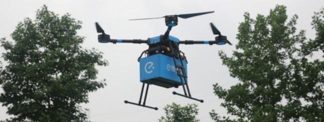 In Cina i droni consegnano il cibo