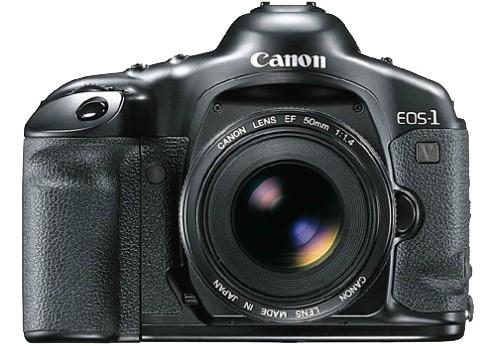 La reflex analogica Canon EOS-1V