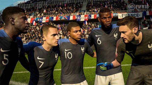 La nazionale francese in 2018 FIFA World Cup Russia