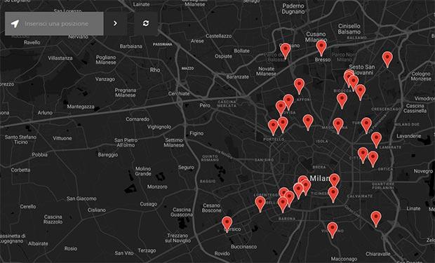 Le fotografie caricate dagli utenti che partecipano al contest Rinascimento Urbano di Huawei, dislocate sulla mappa