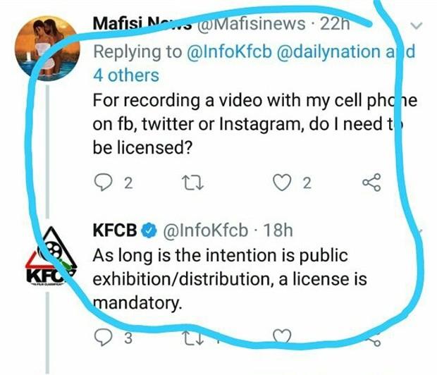 La risposta del profilo ufficiale del KFCB sulla questione