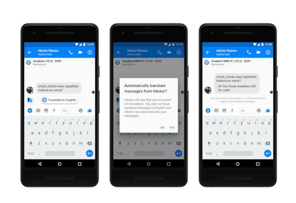 Facebook Messenger, traduzione automatiche