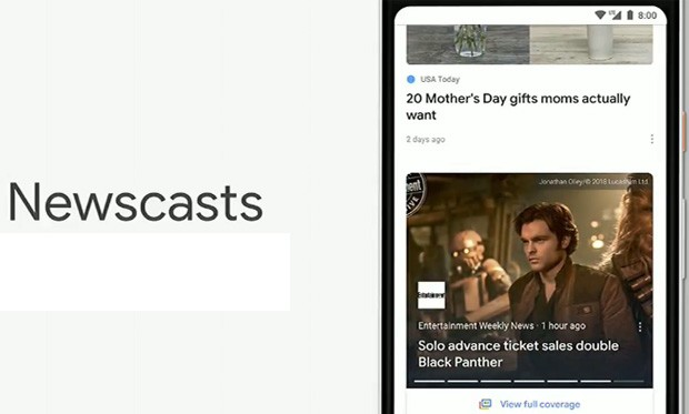 Google News: Newscasts