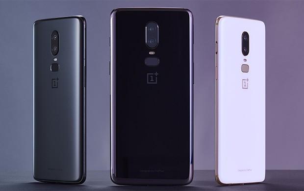 Le tre colorazioni di OnePlus 6: Midnight Black, Mirror Black e Silk White