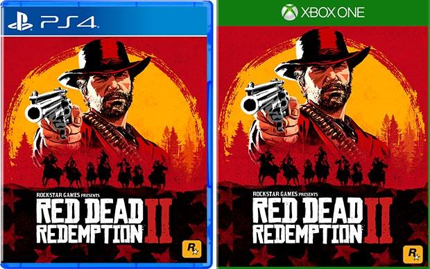 Il box art ufficiale di Red Dead Redemption 2, nelle versioni per PlayStation 4 e Xbox One