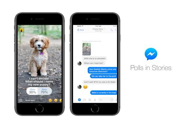Facebook Messenger, arrivano i sondaggi nelle Storie