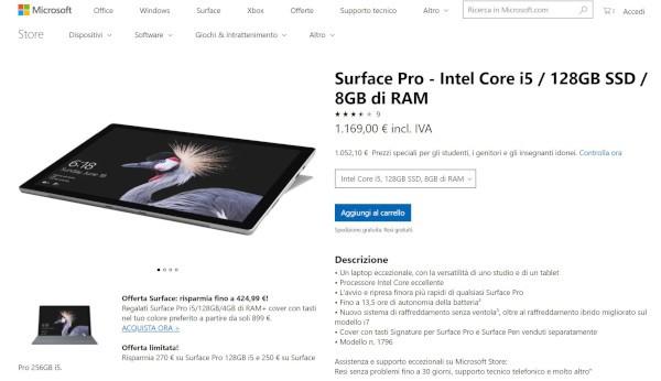 Surface Pro 2017, arriva una nuova variante
