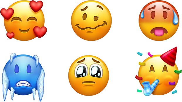 Alcuni dei nuovi emoji introdotti da Unicode 11