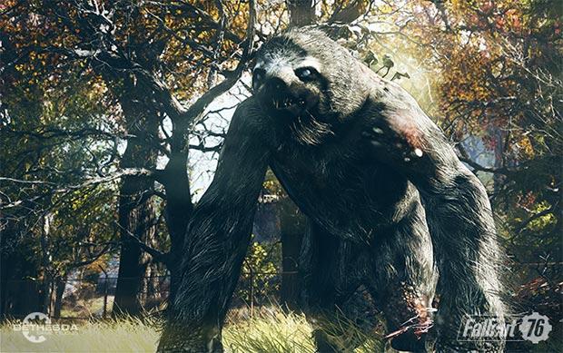 Una delle poco raccomandabili creature che si incontreranno in Fallout 76
