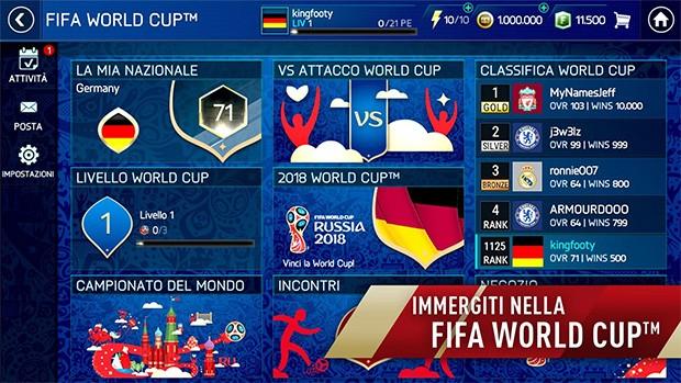 L'aggiornamento gratuito rilasciato da EA Sports per FIFA Mobile, su Android e iOS, introduce le sfide dei Mondiali di Russia