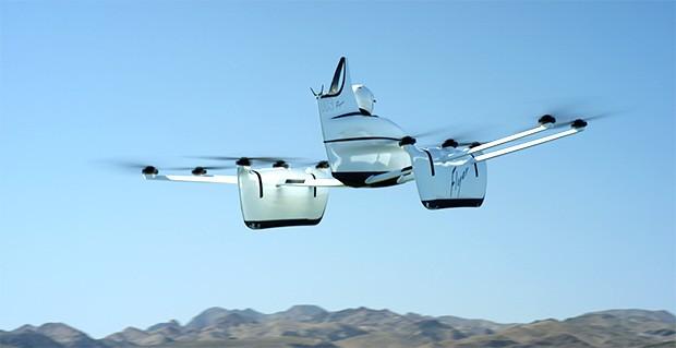 Il velivolo personale Flyer di Kitty Hawk durante un volo