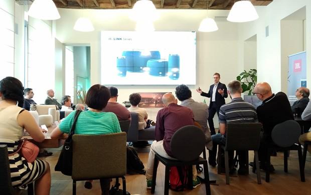 La presentazione degli smart speaker JBL Link, a Casa Lago (Milano)