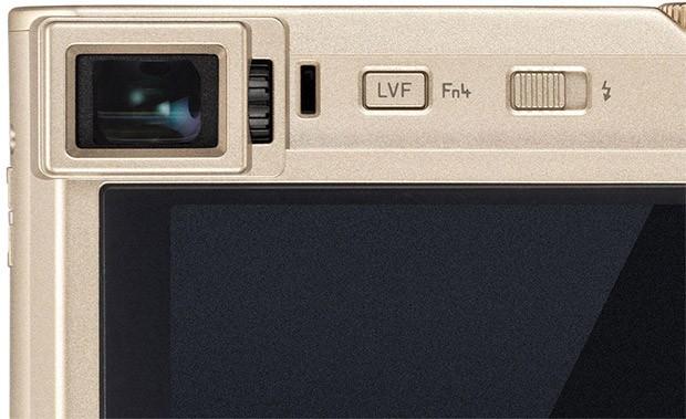Il mirino elettronico della fotocamera compatta Leica C-Lux, con risoluzione 2,33 megapixel
