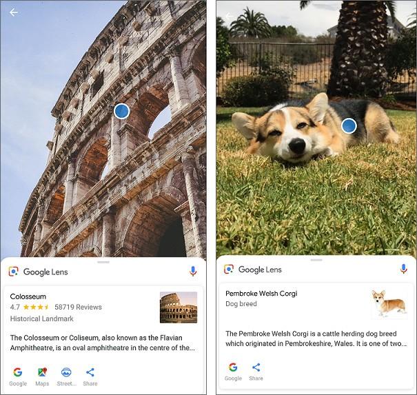 La funzionalità Google Lens in azione sugli smartphone Xperia XZ2 e Xperia XZ2 Compact di Sony