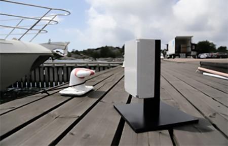 Il sensore posizionato sul molo che si interfaccia con lo yacth e coordina l'esecuzione automatica della manovra