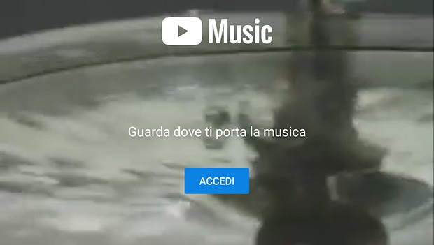 YouTube Music: la schermata principale dell'applicazione
