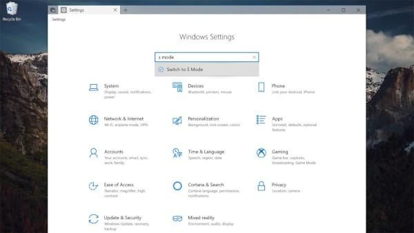 Windows 10, trovati riferimenti a Switch to S Mode