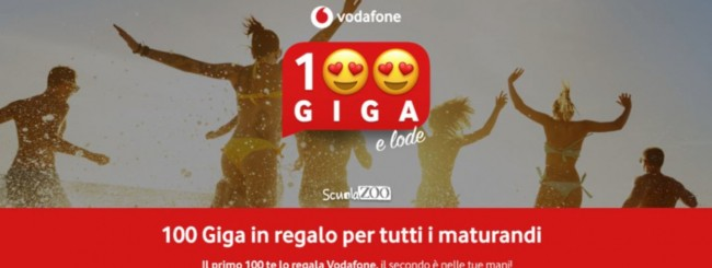 Vodafone, 100 giga per i maturandi