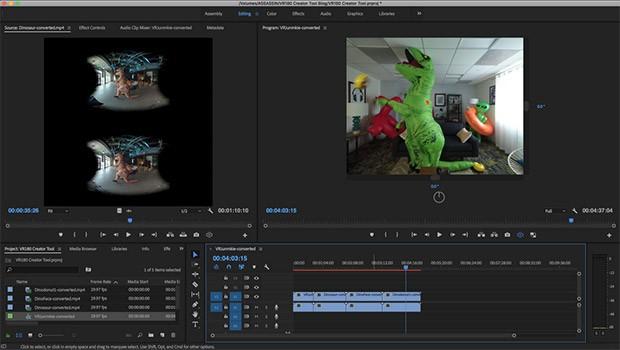 L'interfaccia del software VR180 Creatore lanciato da Google per computer macOS e Linux