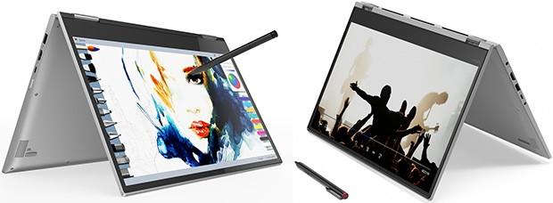 Lenovo Yoga 730 (a sinistra) e Yoga 530 (a destra)