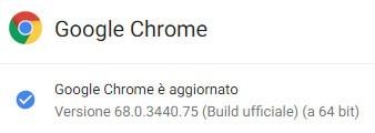 Il browser Chrome di Google si è aggiornato alla versione 68