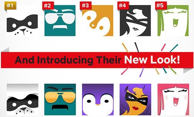 Le icone dei profili preferite dagli utenti di Netflix e il loro nuovo aspetto in seguito al restyling