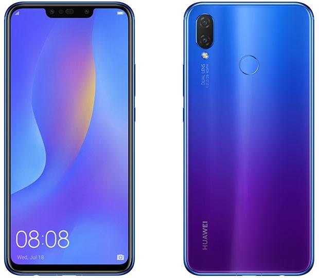 Lo smartphone Huawei P Smart+ nella colorazione Iris Purple