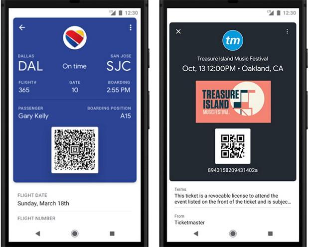 Un'altra delle nuove funzionalità introdotte dall'applicazione Google Pay è relativa al salvataggio di biglietti aerei e per eventi come i concerti