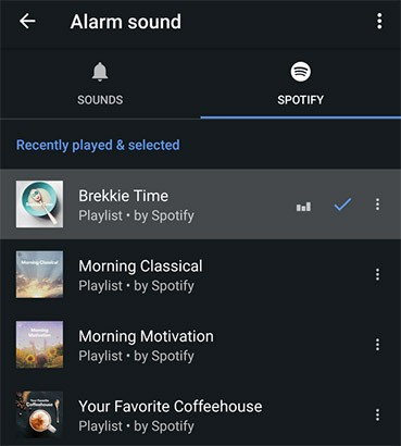 L'applicazione Orologio di Google permette ora di impostare la musica in streaming su Spotify come sveglia