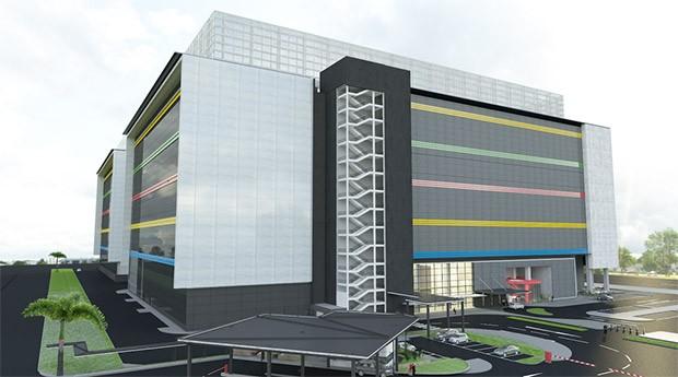 Un render per il nuovo data center che Google si appresta a realizzare a Singapore