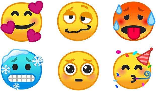 Alcune delle nuove emoji introdotte da Google in Android 9.0 Pie