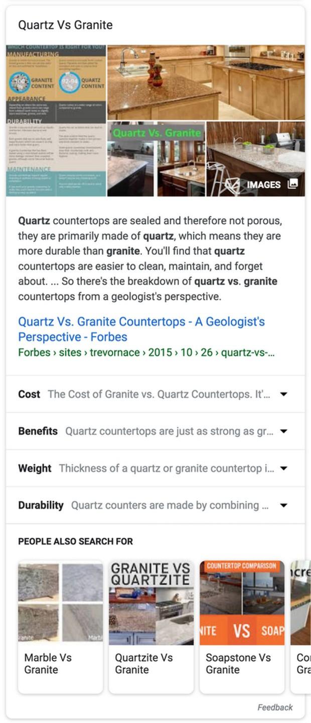 google-quartz-vs-granite