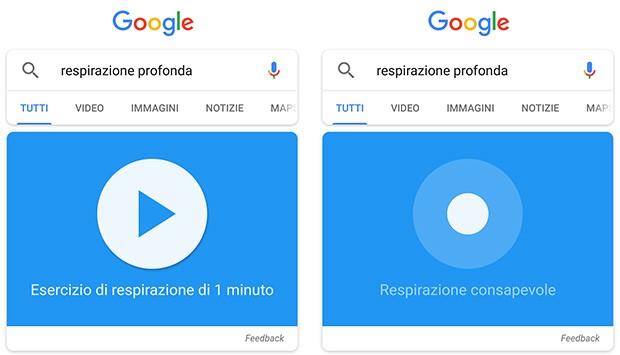 Un minuto di respirazione consapevole e profonda su Google, assistiti da una nuova feature del motore di ricerca