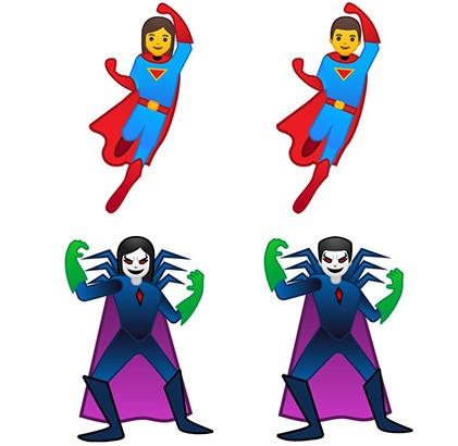 Anche supereroi e cattivi tra le nuove emoji introdotte da Google in Android 9.0 Pie