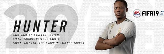 Sul sito ufficiale della squadra spagnola, Alex Hunter è indicato come uno dei calciatori della rosa